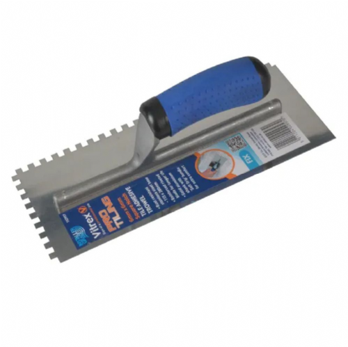 "Vitrex 102957 Stainless Steel 6mm Square Notched Adhesive Trowel 11"" x 4½"""